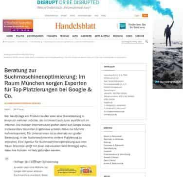 Suchmaschinenoptimierung München